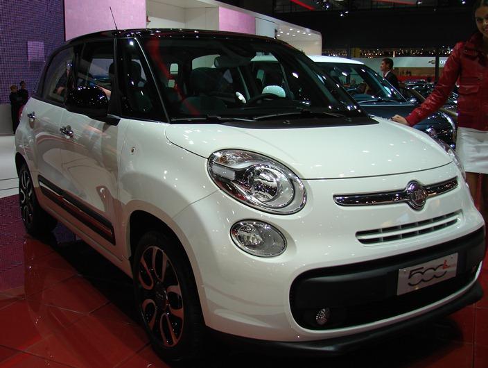 Fiat Manija de la puerta de cromo frontal drivers de 500 L Original Fiat 2013-17