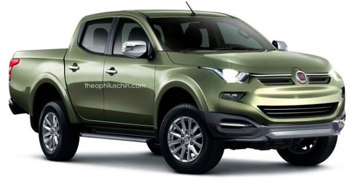 proyecci n de la futura pick up media de fiat desde la nueva mitsubishi l200 2015 auto infoblog. Black Bedroom Furniture Sets. Home Design Ideas
